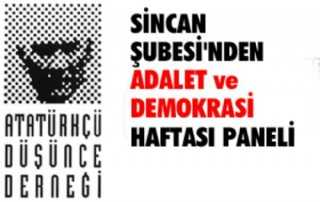 Sincan ADD Şubesi'nden Demokrasi Paneli